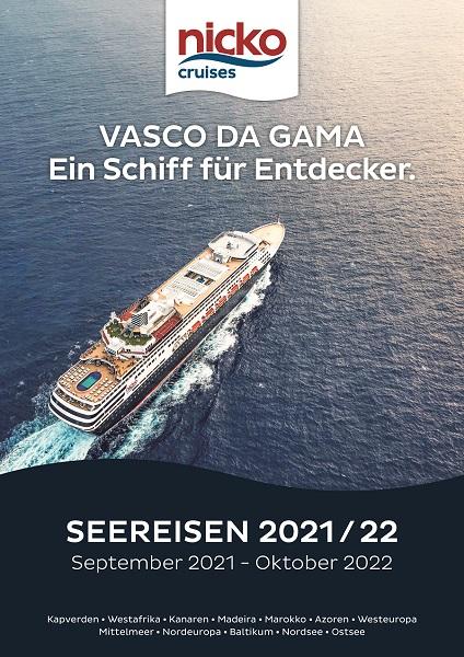 Neuer Katalog VASCO DA GAMA – Kreuzfahrten 2021/22