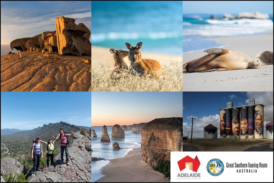 Great Ocean Road – eine der malerischsten Küstenstraßen der Welt entlang der südlichen Küste Australiens, von Melbourne in Victoria nach Adelaide in Südaustralien.